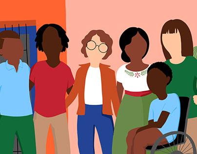 Border Community Alliance Illustrations, 2020