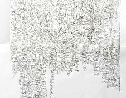 Enlarged lines on paper