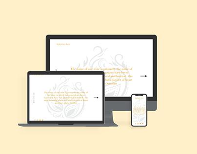 Concept Web Design for Savalan Wine