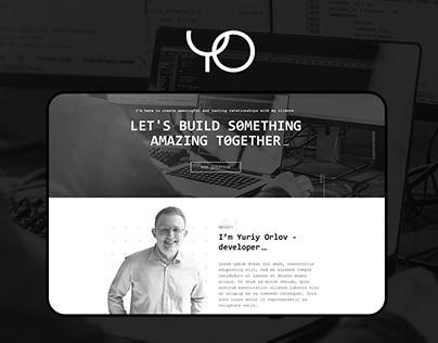 Personal website of professional developer