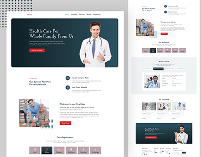 Doctor Appointment 0r health care landing page