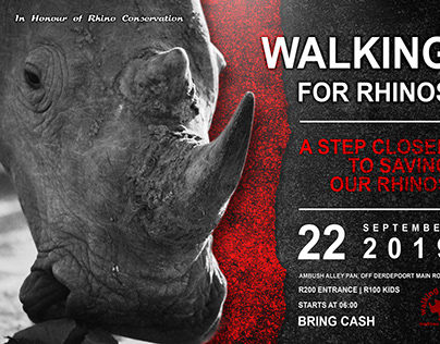 Walking For Rhinos - Event Advertising