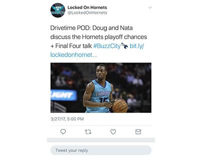 Locked On Hornets Sample Tweet 1