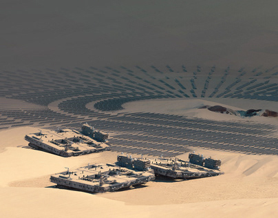 Solar field printer