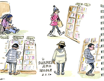 Field Sketching #2 - At Barnes and Noble Bookstore