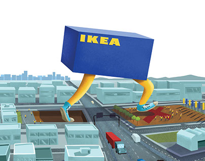 IKEA  MOVES OUT