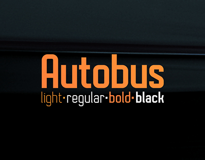 Autobus Font (+ Free weight)