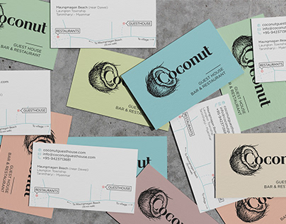 Coconut Guesthouse - Bar & Restaurant | Branding