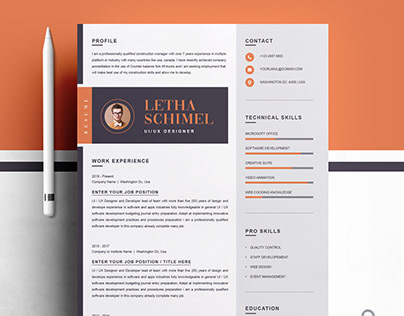 Modern and Clean Resume / CV Design Template