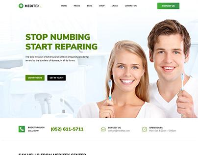 Meditex - Dental & Medical WordPress Website
