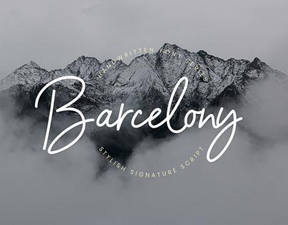 BARCELONY - FREE SCRIPT FONT
