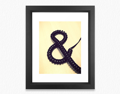 Ampersand Typography Poster