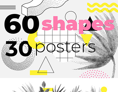 60 geometric shapes, 30 posters