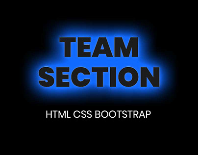 Responsive Team Section design with Bootstrap