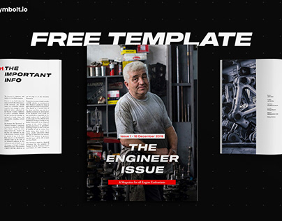 Free InDesign Template - The Engineer Issue