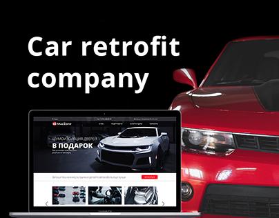 Design for a car upgrade company