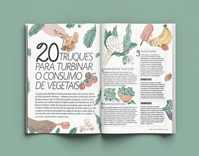 """Revista Saúde - """"20 truques para o consumo de vegetais"""""""