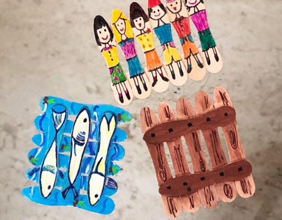 Handmade popsicle coasters by me 1.
