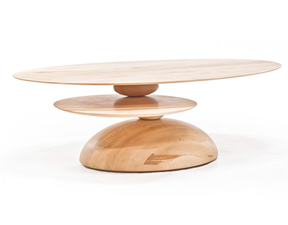 Cairn Table by Alvaro Uribe for Wooda