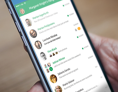 Google Hangout Material Redesign Concept