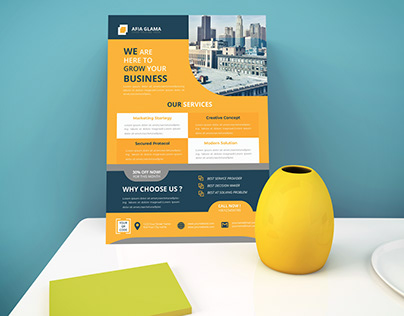 Clean and Professional Corporate or Multipurpose Flyer