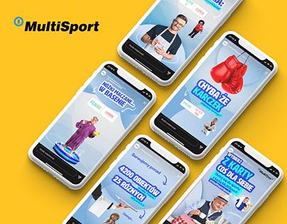Instastories design for Multisport Polska