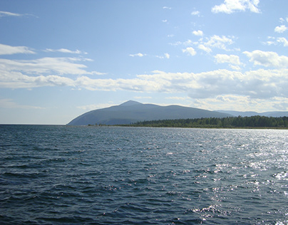 Lake Baikal in the middle of Siberia