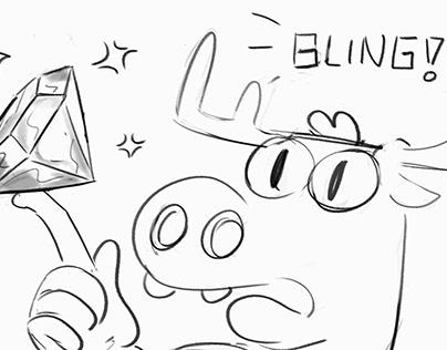 Moosebox AWKWARD POTION Animation Storyboards