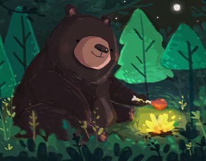 The giant bear : Six frame story challenge