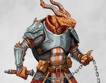 Rhogar, The Dragonborn Fighter