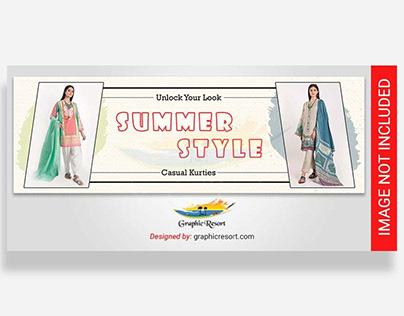 Free Summer Sale Slider PSD Template