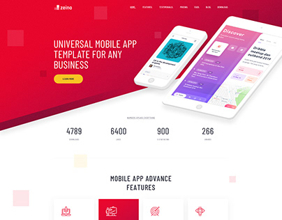 Zeino - Software App Landing Page Template