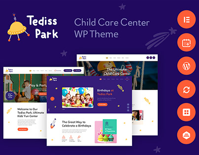 Tediss | Play Area & Child Care Center XD Template