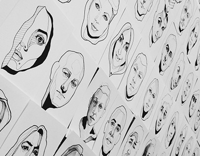 #the100dayproject - 100 Portraits, 100 Days