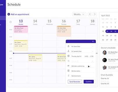 Dental Clinic's Appointment Calendar UX/UI