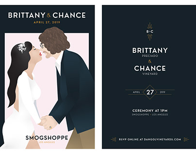 Brittany and Chance Wedding Invitations