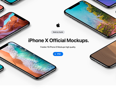 Apple Official iPhone X 16 Mockups Collection