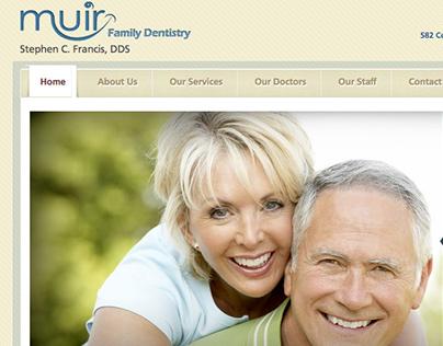 Muir Family Dentistry website