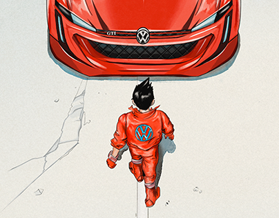 VW Social Media Illustration