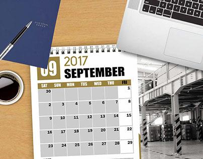 Calendar 2017 - Mockup
