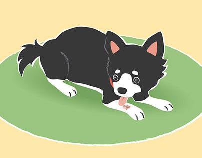Dog illness and trouble(Magazine illustrations)
