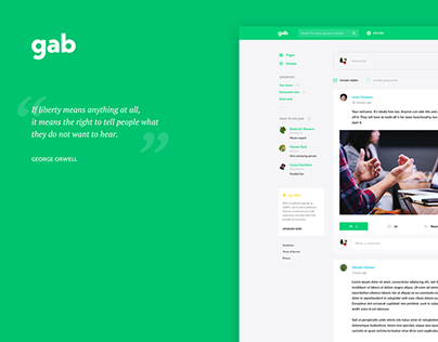GAB.COM redesign concept