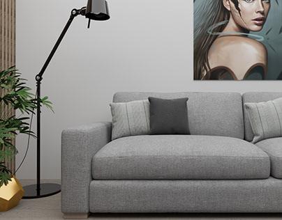 Livingroom desing(render) /sketchup vray 4.0.2
