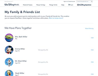 Disney World - Family & Friends