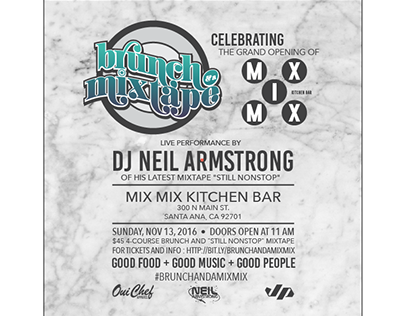 Brunch and a Mixtape promo for Mix Mix restaurant