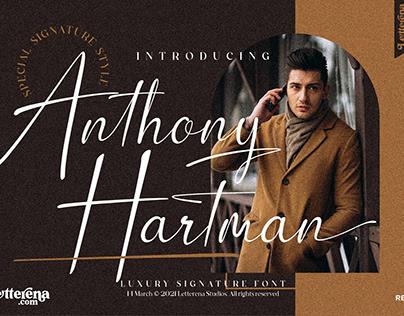 Anthony Hartman - Luxury Signature Font