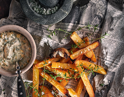 French fries rustic