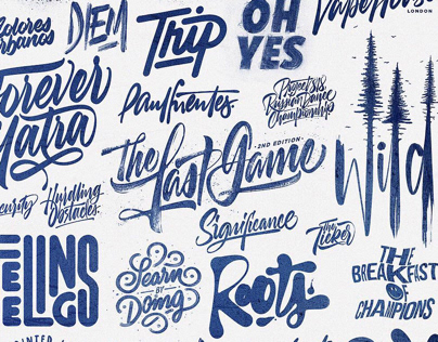 Lettering & Calligraphy Logos by David Milan