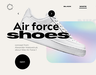 Air Force 1. Concept Landing Page