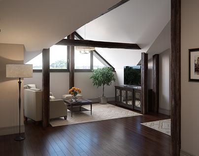 Private house / Bedroom mansard